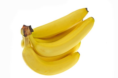Bananen op een witte achtergrond