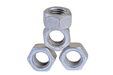 Bolt and nut, isolated on a white background Stockfoto