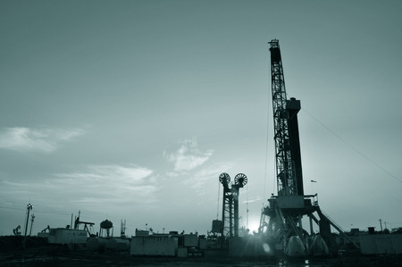 Oil drilling rig, tanghai county of hebei province oil fields in China photo