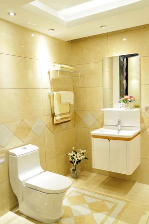 Aseo y cuarto de baño con ducha de lluvia Foto de archivo - 36034717