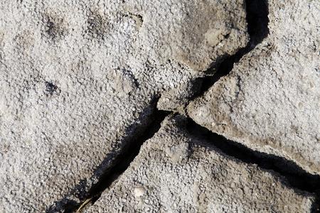Klimaatopwarming droge schrale grond