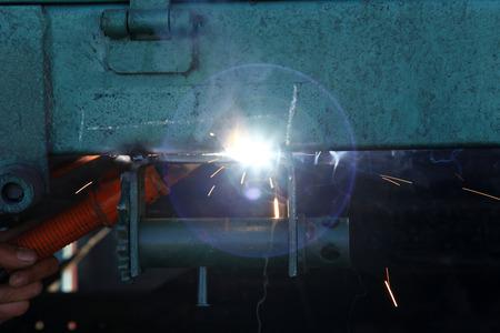 sparks: Smelting industry sparks Stock Photo