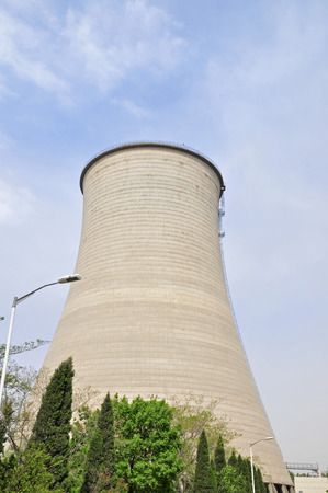 cooling: Power plant cooling tower
