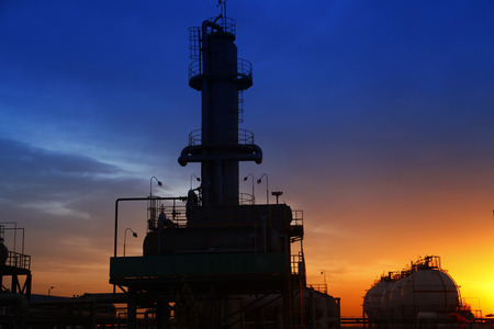 petrochemicals: Evening view  Stock Photo