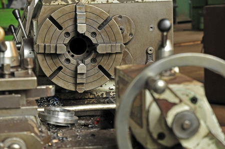 pluck: Steel lathe machinery and equipment Stock Photo