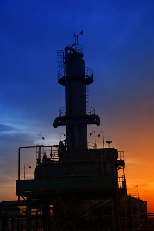 petrochemicals: petroleum chemical plant Stock Photo