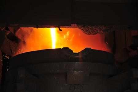 smelting: Metal smelting casting Stock Photo