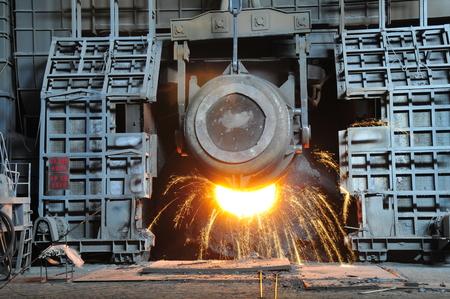Metal smelting casting Stock Photo