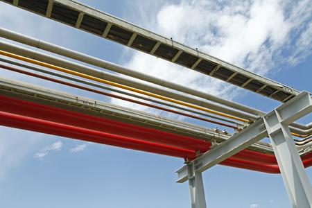 Pipeline of oil fields Stockfoto