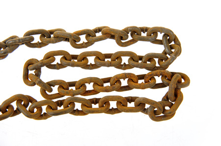 iron chain: rusted iron chain