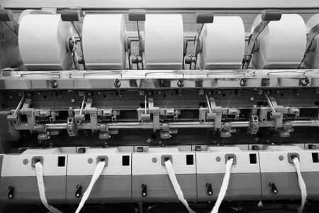 semifinished: Cotton group in spinning production line factory
