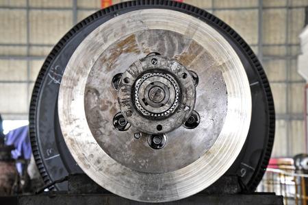 steam turbine: The industrial steam turbine workshop Stock Photo