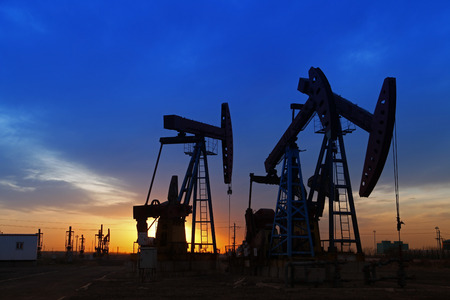 beautification: Oil pumps. Oil industry equipment. Editorial