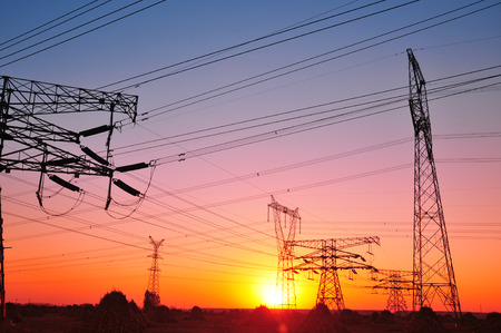 electric line: High voltage electric tower line