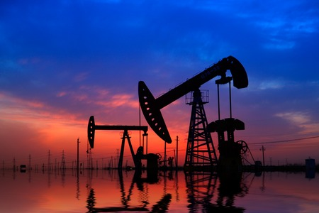 Oil pumps. Oil industry equipment. Editorial