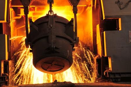 Metal smelting casting Stockfoto