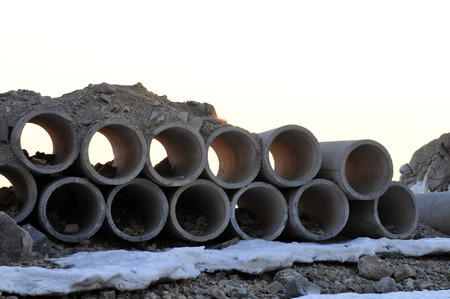Winter heap together well tube