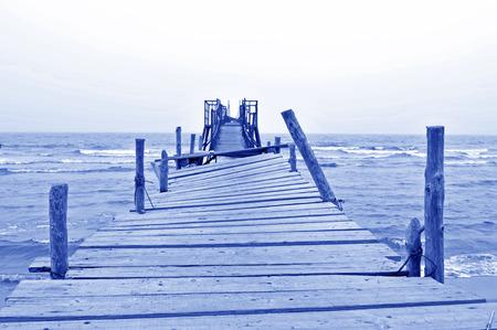 desolate: Sea desolate simple terminal Stock Photo