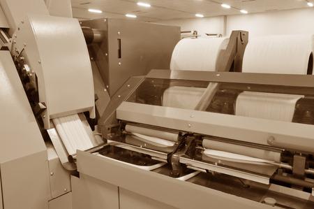 textile industry: Grupo en el hilado de algodón fábrica línea de producción