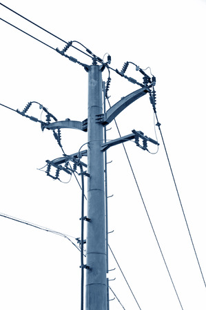 isolator high voltage: post and telecommunications Stock Photo