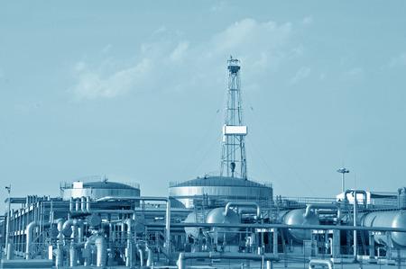 Petrochemical processing equipment Stockfoto