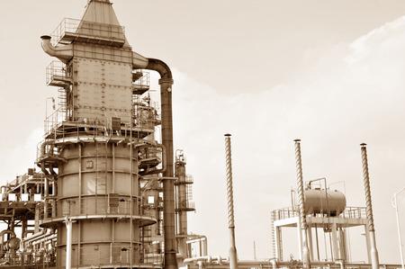 petrochemical: Petrochemical processing equipment Stock Photo