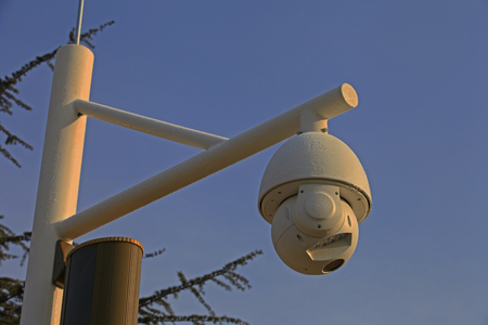 deterrence: China central television (CCTV) camera to spy on to the world below