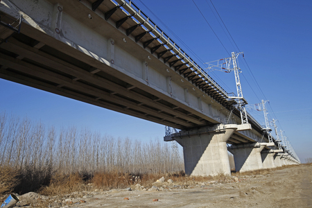 flyovers: Elevated concrete bridge structure