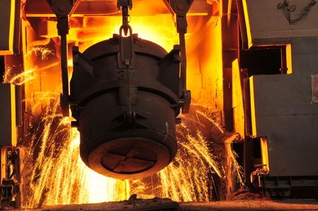 metal casting: Metal smelting casting Stock Photo