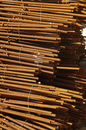 organised: Rebar organised at the construction site