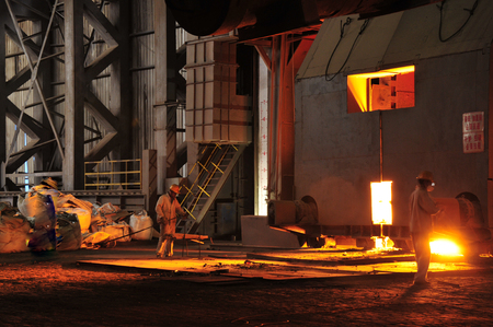 crucible: Metal smelting casting Stock Photo
