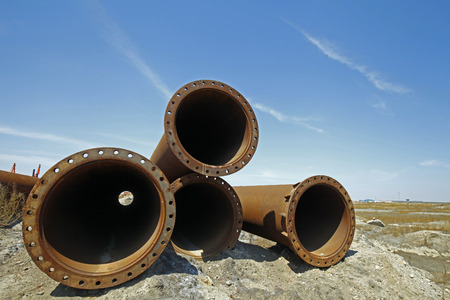 corrosion: The rusty pipe Stock Photo
