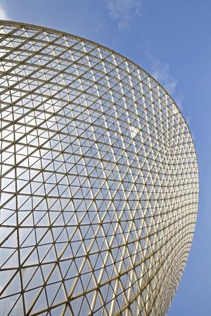 estructura: Estructura de acero de construcci�n de geometr�a como el fondo