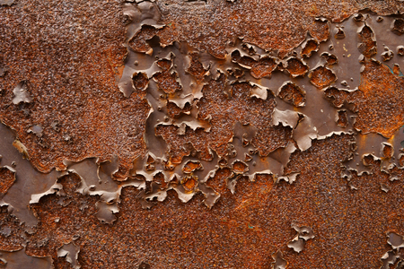 The background of the rusty metal hole peeling paint