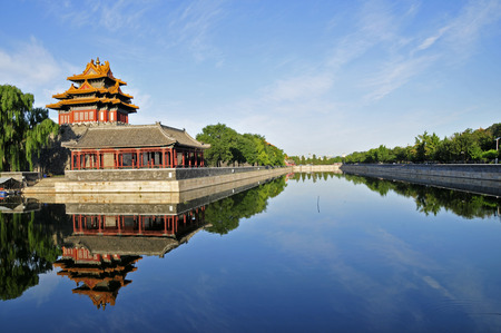 china landscape: The Forbidden City in Beijing, China