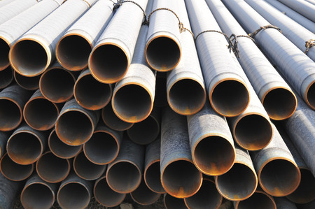 steel pipes: Layers of steel pipes