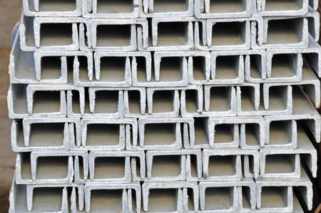 metallurgist: Hot dip galvanized steel channel Stock Photo