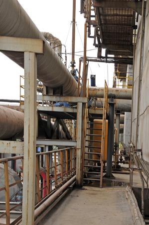 metal structure: Pipeline valve facilities in steel mills