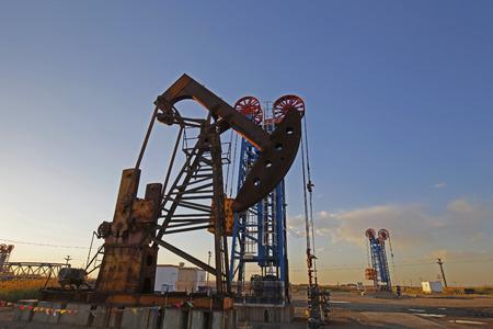 oilrig: The oil pump Stock Photo