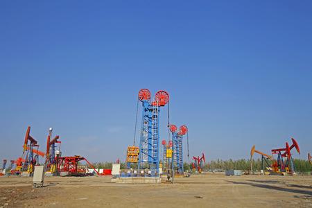 oilrig: The oil pump, industrial equipment