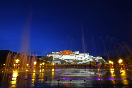 potala: The potala palace at night