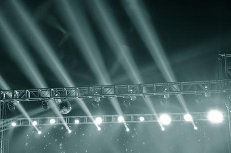 fuzzy: Stage lighting effect in the dark, fuzzy figure