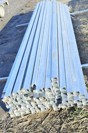 heavy joist: Rectangular metal construction Stock Photo