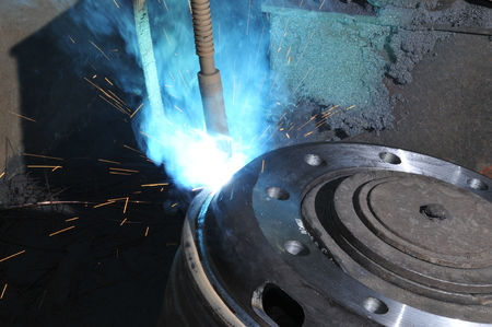 smelting: Smelting industry sparks Stock Photo