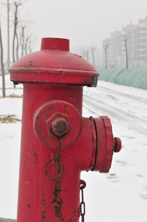 borne fontaine: Red bouche d'incendie