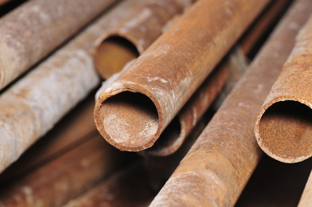 corrosion: Rusty steel pipe
