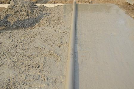 proficient: Workers laid concrete pavement