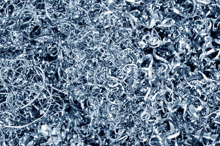 metal scrap: Cut the background of metal scrap Stock Photo