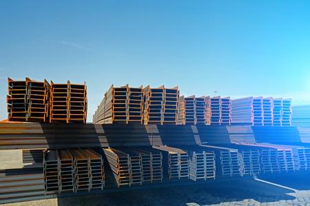 steel: Channel steel Stock Photo