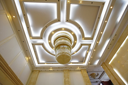 ceiling: ceiling droplight Editorial